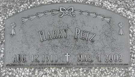 PETZ, HARRY - Cuming County, Nebraska   HARRY PETZ - Nebraska Gravestone Photos