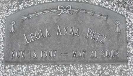 PETZ, LEOLA ANNA - Cuming County, Nebraska | LEOLA ANNA PETZ - Nebraska Gravestone Photos