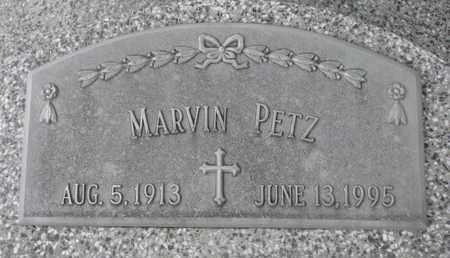 PETZ, MARVIN - Cuming County, Nebraska   MARVIN PETZ - Nebraska Gravestone Photos