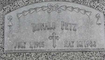 PETZ, RONALD - Cuming County, Nebraska | RONALD PETZ - Nebraska Gravestone Photos