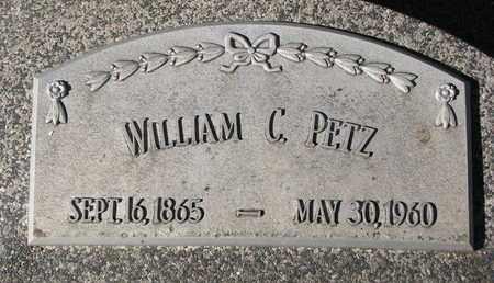 PETZ, WILLIAM C. - Cuming County, Nebraska   WILLIAM C. PETZ - Nebraska Gravestone Photos