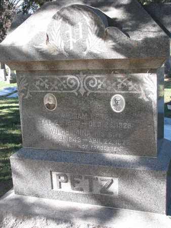 PETZ, WILHELMINA - Cuming County, Nebraska | WILHELMINA PETZ - Nebraska Gravestone Photos