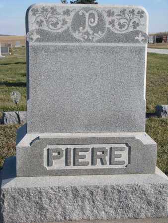 PIERE, (FAMILY STONE) - Cuming County, Nebraska | (FAMILY STONE) PIERE - Nebraska Gravestone Photos