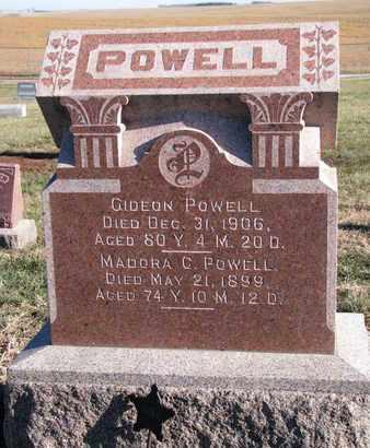POWELL, GIDEON - Cuming County, Nebraska   GIDEON POWELL - Nebraska Gravestone Photos