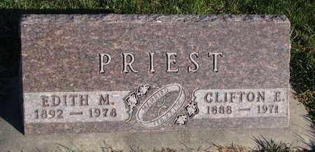 PRIEST, EDITH M. - Cuming County, Nebraska | EDITH M. PRIEST - Nebraska Gravestone Photos