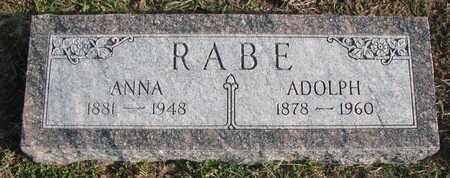 RABE, ANNA - Cuming County, Nebraska | ANNA RABE - Nebraska Gravestone Photos