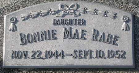 RABE, BONNIE MAE - Cuming County, Nebraska   BONNIE MAE RABE - Nebraska Gravestone Photos