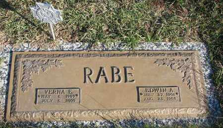 RABE, VERNA E. - Cuming County, Nebraska | VERNA E. RABE - Nebraska Gravestone Photos