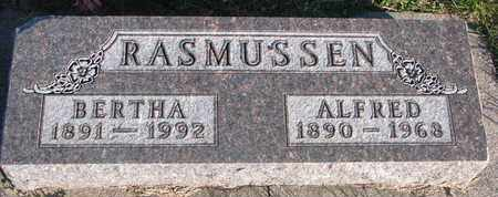 RASMUSSEN, ALFRED - Cuming County, Nebraska | ALFRED RASMUSSEN - Nebraska Gravestone Photos