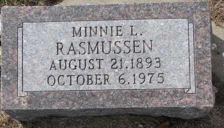 RASMUSSEN, MINNIE L. - Cuming County, Nebraska | MINNIE L. RASMUSSEN - Nebraska Gravestone Photos