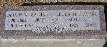 RATHKE, LEOLA M. - Cuming County, Nebraska   LEOLA M. RATHKE - Nebraska Gravestone Photos