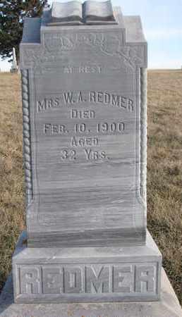 REDMER, MRS. W.A. - Cuming County, Nebraska | MRS. W.A. REDMER - Nebraska Gravestone Photos