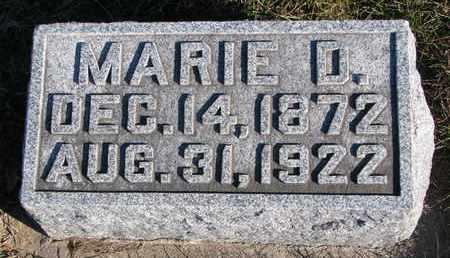 REUTER, MARIE D. - Cuming County, Nebraska | MARIE D. REUTER - Nebraska Gravestone Photos