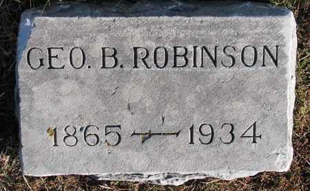 ROBINSON, GEORGE B. - Cuming County, Nebraska | GEORGE B. ROBINSON - Nebraska Gravestone Photos