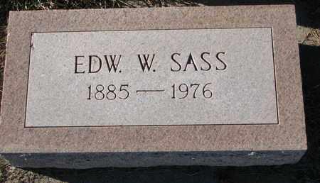 SASS, EDWARD W. - Cuming County, Nebraska | EDWARD W. SASS - Nebraska Gravestone Photos