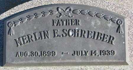SCHREIBER, MERLIN E. - Cuming County, Nebraska   MERLIN E. SCHREIBER - Nebraska Gravestone Photos
