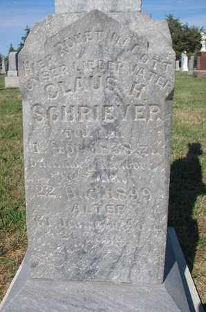 SCHRIEVER, CLAUS H. (CLOSEUP) - Cuming County, Nebraska | CLAUS H. (CLOSEUP) SCHRIEVER - Nebraska Gravestone Photos