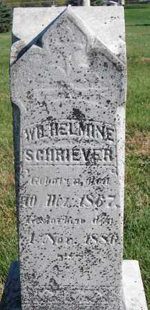 SCHRIEVER, WILHELMINE - Cuming County, Nebraska   WILHELMINE SCHRIEVER - Nebraska Gravestone Photos