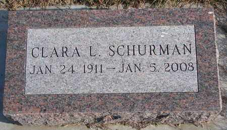 SCHURMAN, CLARA L. - Cuming County, Nebraska   CLARA L. SCHURMAN - Nebraska Gravestone Photos