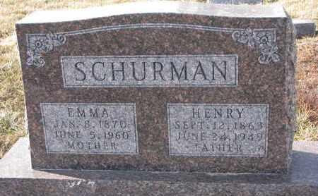 SCHURMAN, HENRY - Cuming County, Nebraska | HENRY SCHURMAN - Nebraska Gravestone Photos