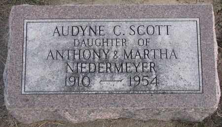 SCOTT, AUDYNE C. - Cuming County, Nebraska   AUDYNE C. SCOTT - Nebraska Gravestone Photos