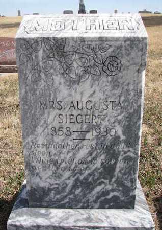 SIEGERT, AUGUSTA - Cuming County, Nebraska | AUGUSTA SIEGERT - Nebraska Gravestone Photos