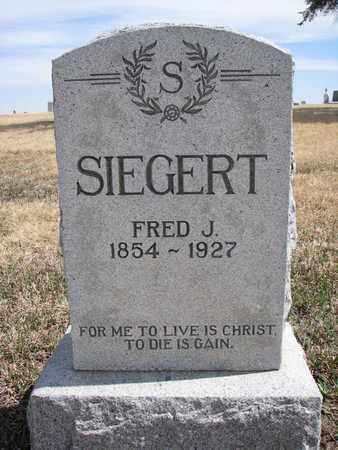 SIEGERT, FRED J. - Cuming County, Nebraska   FRED J. SIEGERT - Nebraska Gravestone Photos