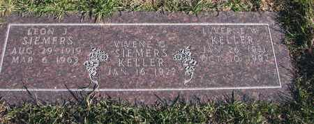 SIEMERS, LEON J. - Cuming County, Nebraska | LEON J. SIEMERS - Nebraska Gravestone Photos
