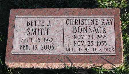 BONSACK, CHRISTINE KAY - Cuming County, Nebraska | CHRISTINE KAY BONSACK - Nebraska Gravestone Photos