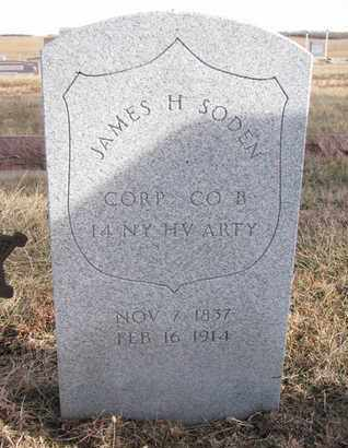 SODEN, JAMES H. (MILITARY) - Cuming County, Nebraska   JAMES H. (MILITARY) SODEN - Nebraska Gravestone Photos