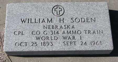 SODEN, WILLIAM H. - Cuming County, Nebraska   WILLIAM H. SODEN - Nebraska Gravestone Photos