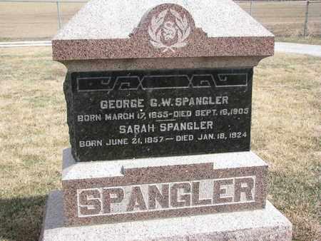 SPANGLER, GEORGE G.W. - Cuming County, Nebraska | GEORGE G.W. SPANGLER - Nebraska Gravestone Photos
