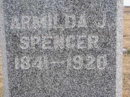 SPENCER, ARMILDA J. (CLOSEUP) - Cuming County, Nebraska   ARMILDA J. (CLOSEUP) SPENCER - Nebraska Gravestone Photos