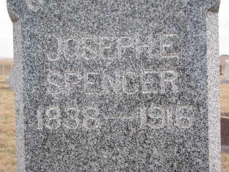 SPENCER, JOSEPH E. (CLOSEUP) - Cuming County, Nebraska   JOSEPH E. (CLOSEUP) SPENCER - Nebraska Gravestone Photos