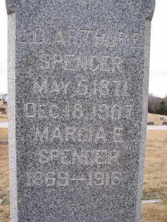 SPENCER, MARCIA E. (CLOSEUP) - Cuming County, Nebraska   MARCIA E. (CLOSEUP) SPENCER - Nebraska Gravestone Photos