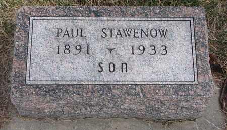 STAWENOW, PAUL - Cuming County, Nebraska   PAUL STAWENOW - Nebraska Gravestone Photos