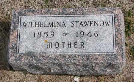 STAWENOW, WILHELMINA - Cuming County, Nebraska | WILHELMINA STAWENOW - Nebraska Gravestone Photos