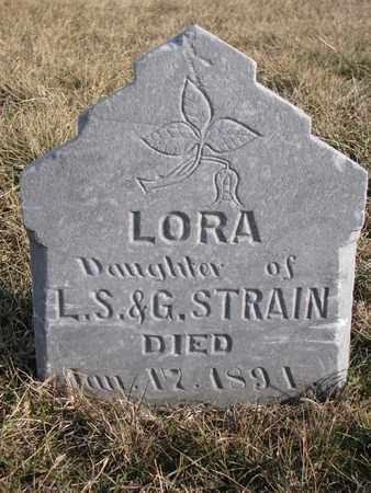 STRAIN, LORA - Cuming County, Nebraska | LORA STRAIN - Nebraska Gravestone Photos