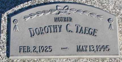 TAEGE, DOROTHY C. - Cuming County, Nebraska   DOROTHY C. TAEGE - Nebraska Gravestone Photos