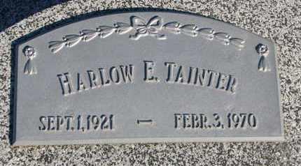 TAINTER, HARLOW E. - Cuming County, Nebraska | HARLOW E. TAINTER - Nebraska Gravestone Photos
