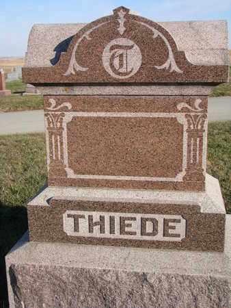 THIEDE, (FAMILY MONUMENT) - Cuming County, Nebraska | (FAMILY MONUMENT) THIEDE - Nebraska Gravestone Photos