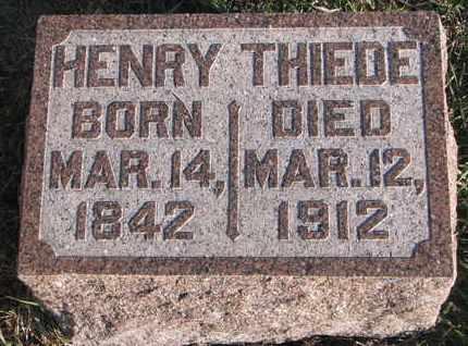 THIEDE, HENRY - Cuming County, Nebraska   HENRY THIEDE - Nebraska Gravestone Photos