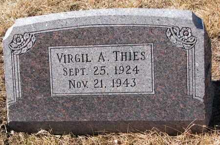 THIES, VIRGIL A. - Cuming County, Nebraska | VIRGIL A. THIES - Nebraska Gravestone Photos
