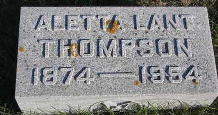 LANT THOMPSON, ALETTA - Cuming County, Nebraska   ALETTA LANT THOMPSON - Nebraska Gravestone Photos