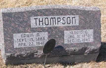 THOMPSON, HEDWIG C. - Cuming County, Nebraska | HEDWIG C. THOMPSON - Nebraska Gravestone Photos