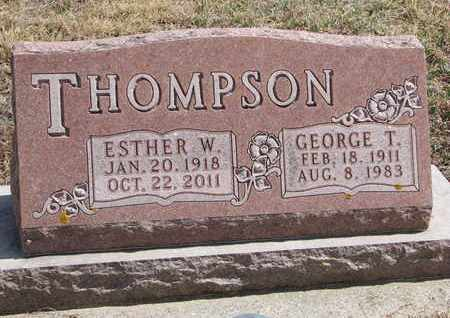 THOMPSON, ESTHER W. - Cuming County, Nebraska | ESTHER W. THOMPSON - Nebraska Gravestone Photos