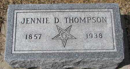 THOMPSON, JENNIE D. - Cuming County, Nebraska | JENNIE D. THOMPSON - Nebraska Gravestone Photos