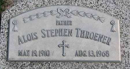 THROENER, ALOIS STEPHEN - Cuming County, Nebraska | ALOIS STEPHEN THROENER - Nebraska Gravestone Photos