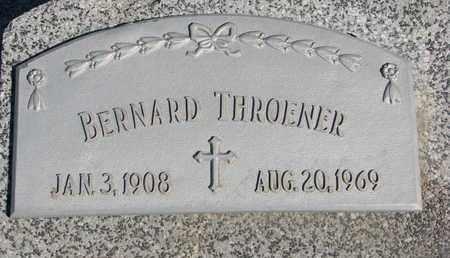 THROENER, BERNARD - Cuming County, Nebraska   BERNARD THROENER - Nebraska Gravestone Photos