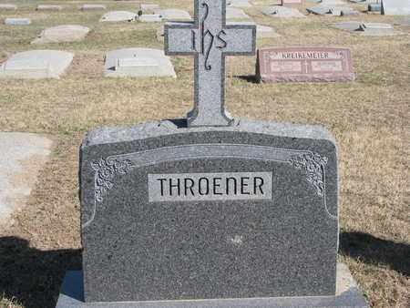 THROENER, (FAMILY MONUMENT) - Cuming County, Nebraska | (FAMILY MONUMENT) THROENER - Nebraska Gravestone Photos